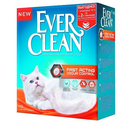 Наполнитель для кошек EVER CLEAN Fast Acting комкующийся 10л 67327