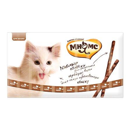 Лакомство для кошек Мнямс лакомые палочки с индейкой и ягненком 5г 10шт