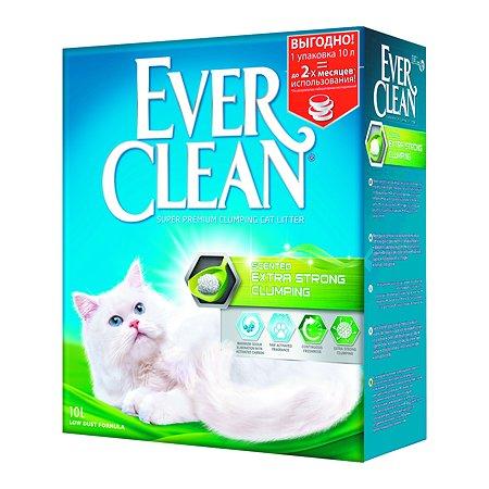 Наполнитель для кошек EVER CLEAN Extra Strong Clumping Scented с ароматизатором комкующийся 10л