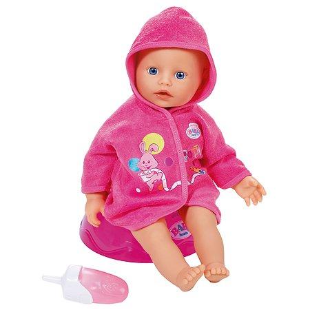 Кукла Zapf Creation My little Baby born быстросохнущая с горшком и бутылочкой 823-460