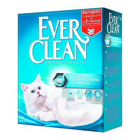 Наполнитель для кошек EVER CLEAN Extra Strong Clumping Unscented без ароматизатора комкующийся 10л