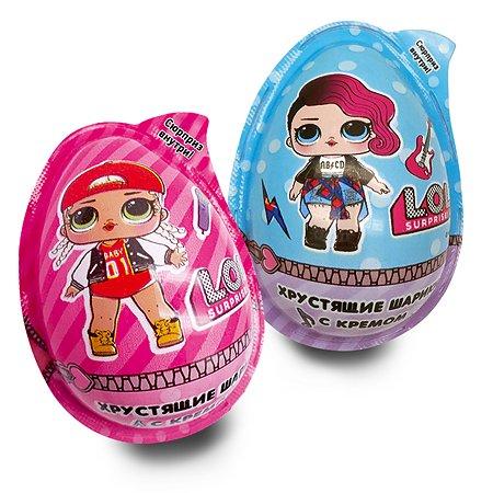 Яйцо L.O.L. Surprise! с хрустящими шариками и кремом 15г +игрушка в непрозрачной упаковке (Сюрприз) в ассортименте