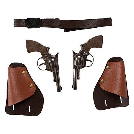 Игровой набор Gonher 2 ковбойских пистолета в кобуре