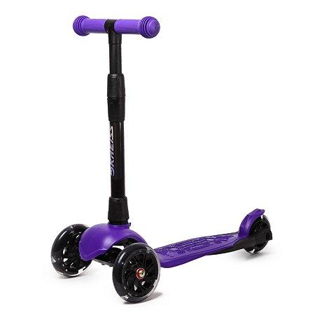 Самокат Kreiss Альфа 3 колесный Фиолетовый