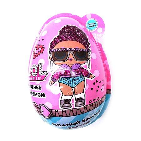 Яйцо L.O.L. Surprise! с печеньем и кремом 15г +игрушка в непрозрачной упаковке (Сюрприз)
