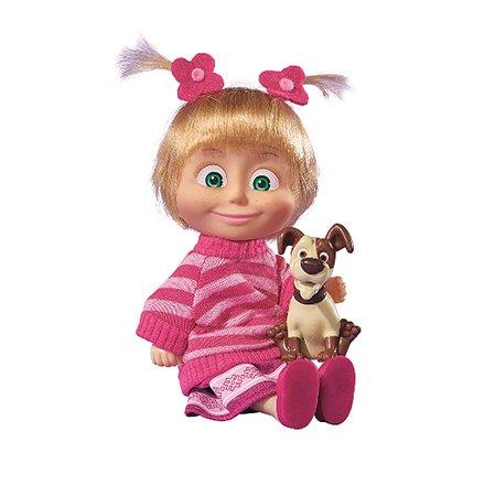 Кукла Simba Маша и медведь Маша в розовой кофточке с собачкой