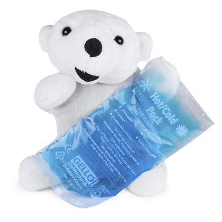 Грелка гелевая BabyFrank Белый медведь