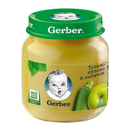 Пюре Gerber яблоко-кабачок 130г