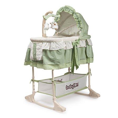 Кроватка-колыбель Babyton зеленая