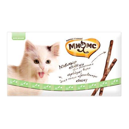 Лакомство для кошек Мнямс лакомые палочки с уткой и кроликом 5г 10шт