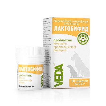 Добавка для кошек и собак Veda Лактобифид пробиотик 20таблеток