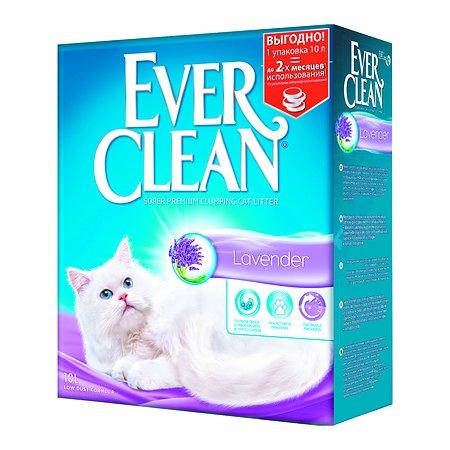 Наполнитель для кошек EVER CLEAN Lavender аромат лаванды комкующийся 10л