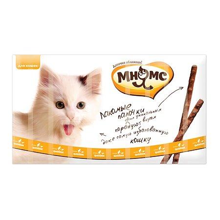 Лакомство для кошек Мнямс лакомые палочки с цыпленком и печенью 5г 10шт