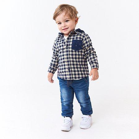 Рубашка Baby Go Trend тёмно-синяя