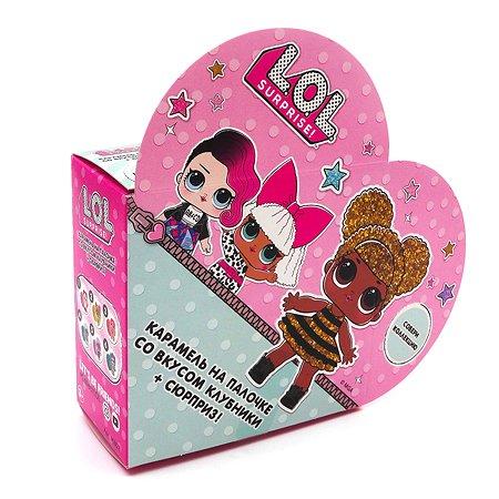 Карамель на палочке L.O.L. Surprise! клубника 12г +игрушка в непрозрачной упаковке (Сюрприз)