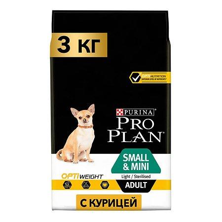 Корм для собак PROPLAN Light мелких и карликовых пород курица 3кг