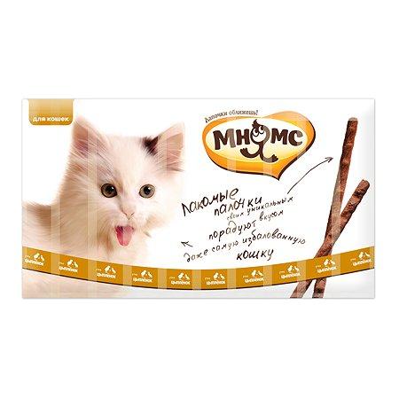 Лакомство для кошек Мнямс лакомые палочки с цыпленком и уткой 5г 10шт
