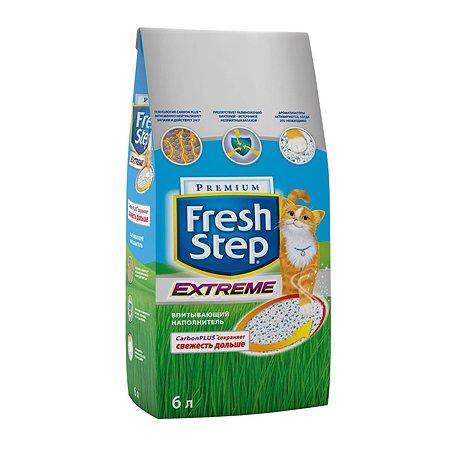 Наполнитель для кошек FRESH STEP Extreme Тройной контроль запахов впитывающий 6л