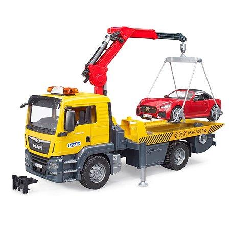 Самосвал Bruder Mercedes-Benz с мини погрузчиком 03-750