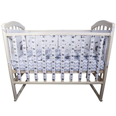 Комплект постельного белья Эдельвейс Лесные друзья 6предметов Серый 10613