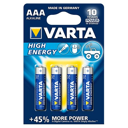 Батарейка Varta High Energy Micro 1.5V - LR03/AAA 4 шт