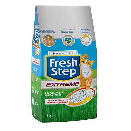 Наполнитель для кошек FRESH STEP Extreme Тройной контроль запахов впитывающий 18л