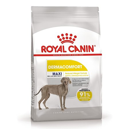 Корм для собак ROYAL CANIN Maxi Dermacomfort крупных пород склонных к кожным раздражениям и зуду 3кг