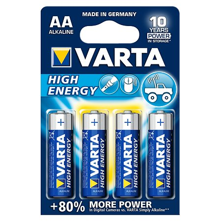 Батарейка Varta High Energy Mignon 1.5V - LR6/ AA 4шт