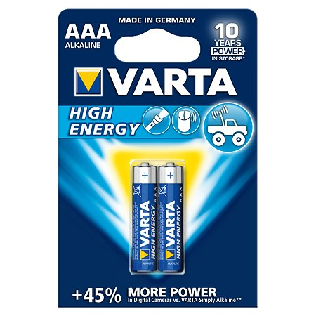 Батарейка Varta High Energy Micro 1.5V - LR03/ AAA 2шт