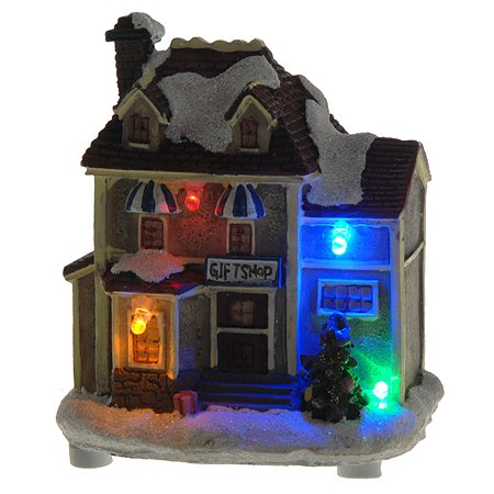Cтатуэтка KOOPMAN Рождественский домик с подсветкой 10*8*5.5см ACD000023