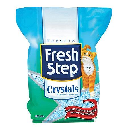 Наполнитель для кошек FRESH STEP Crystals силикагель впитывающий 1.81кг