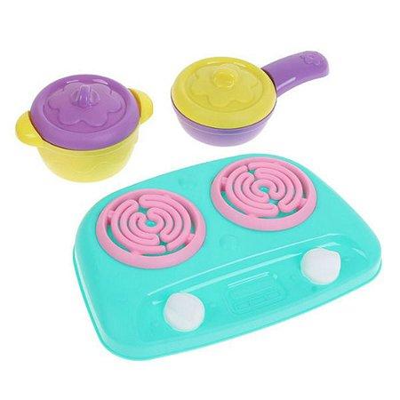 Плита Нордпласт ШКОДА с посудой 4 предмета