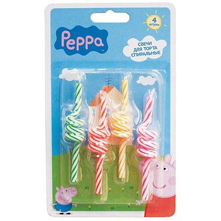Набор спиральных свечей Росмэн Peppa Pig
