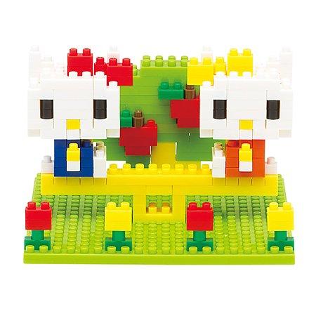 Конструктор Nanoblock Hello Kitty и Mimmy в парке