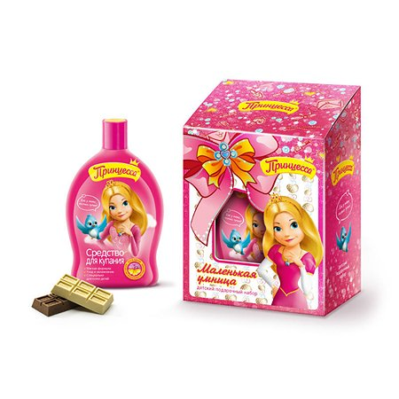 Подарочный набор Принцесса Маленькая умница (Средство для купания 300 мл + канцелярия)