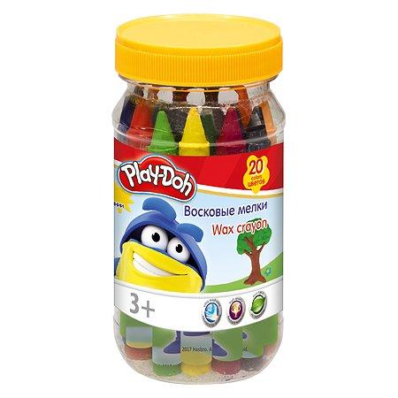 Набор Kinderline восковых мелков 20цв в банке Play Doh