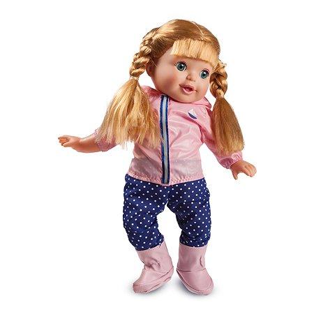 Кукла Demi Star Элизабет Блондинка в розовой ветровке синих штанах в белый горох