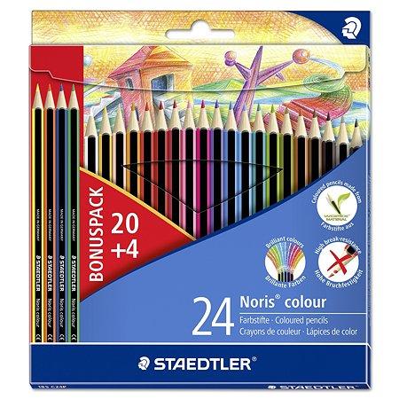 Карандаши Staedtler цветные Noris Club 185 24 цв.