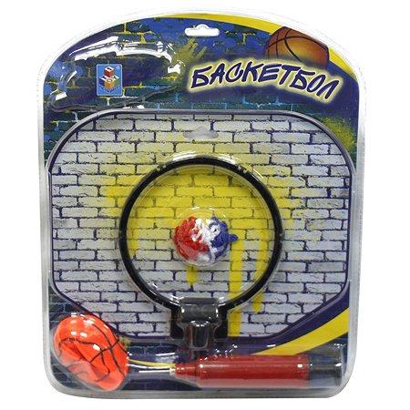 Набор баскетбольный 1TOY щит, мяч, насос