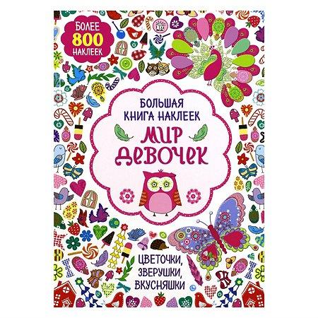Большая книга наклеек Лабиринт Мир девочек