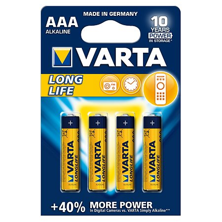 Батарейка Varta Longlife Micro 1.5V - LR03/ AAA 4шт
