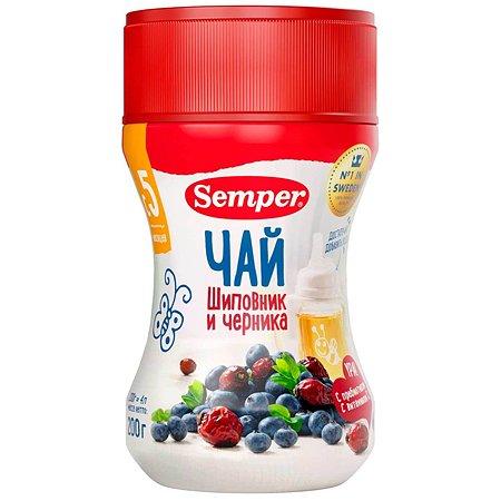 Чай Semper шиповник-черника гранулированный 200г с 5месяцев