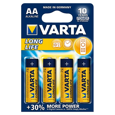 Батарейка Varta Longlife Mignon 1.5V - LR06/ AA 4шт