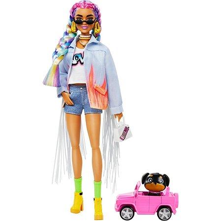 Кукла Barbie Экстра с радужными косичками GRN29