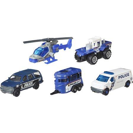 Набор машинок Matchbox Полицейская команда DWR80