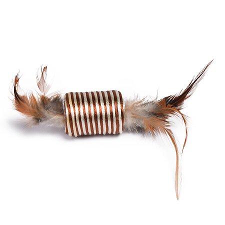 Игрушка для кошек Nobby Катушка с перьями 71912