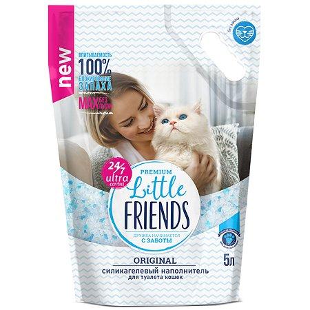 Наполнитель для кошек Little Friends Original силикагелевый 5л