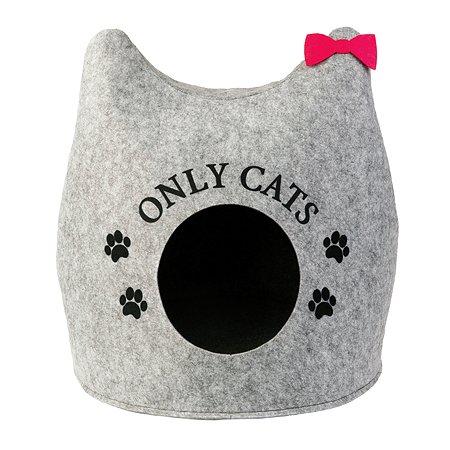 Домик для кошек Eva Ушастик Only cats войлок 46х46х43см Eva