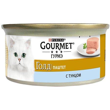 Корм влажный для кошек Gourmet Gold 85г паштет тунец