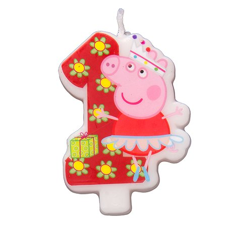 Фигурная свеча Росмэн Цифра 1 Peppa Pig